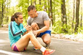 Public Place knee Injury